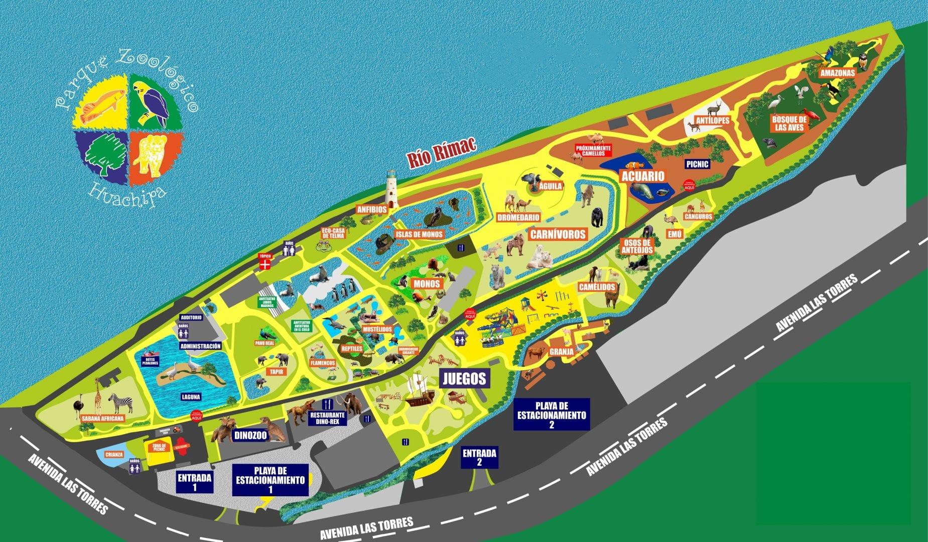 Mapa Zoo Huachipa
