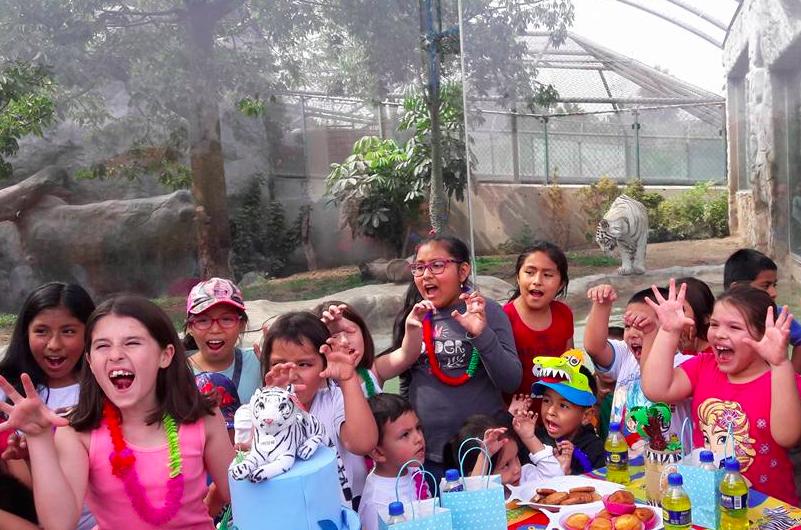 Niños celebran la fiesta de la tigresa blanca de Huachipa